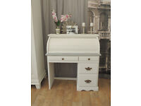 Beautiful shabby chic roll top desk/bureau by Eclectivo