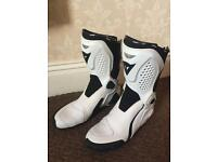 Dainese white motorcycle boots excellent condition