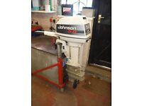 Johnson 5hp Outboard Motor Long Shaft