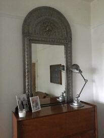 Large Bespoke Pewter Mirror