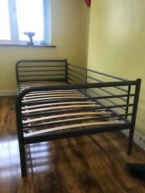 IKEA SINGLE METAL BED 900/2000