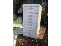 10 draw filing cabinet