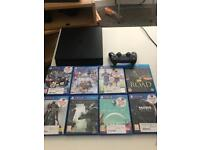 PS4 1TB Slim Console + 7 Games and controller + 32inch Flatscreen LED TV