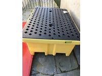 ECOTEK SPILL PALLET HEAVY DUTY 2 DRUM - NEW
