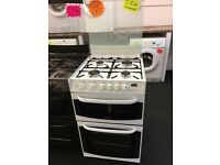 CANNON 55CM ALL GAS COOKER WITH LID IN WHITE