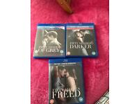 Mint Fifty Shades Of Grey Blu Ray Trio