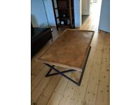 Wood and Parquet Coffee Table