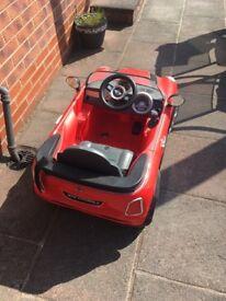 Red Mini Cooper 12 volt car