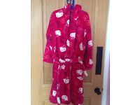 Hello Kitty Dressing Gown. Age 9-10.