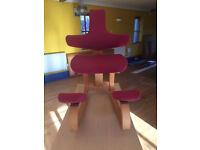 Very comfortable desk rocker chair or kneeling chair