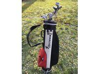 Golf Club Set Irons, Woods, Putter, Bag & Bag Stand £20