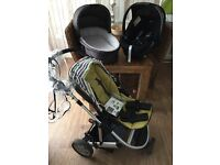 Mamas And Papas Limited Edition Tayo/Zoom Pram Pushchair Car seat Carrycot 3in1