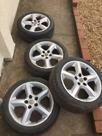Vauxhall 5stud alloy wheels 215/45/17