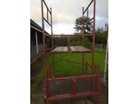 steel scaffolding tower