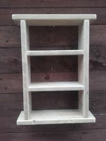 #Quaint little Kitchen Bathroom Storage / shelf unit ,bare wood( 4)