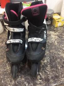 inline roller skates size 3-5 (adjustable)