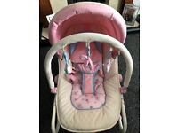 Girls pink baby bouncer