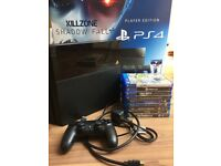 PS4 console 500gb Good condition - Includes box, controller, games and cables