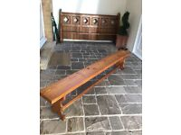 Antique pitch pine bench 7ft