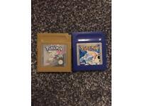 Pokemon Blue & Pokemon Gold for Gameboy