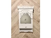 Shabby chic french wooden mirror cabinet