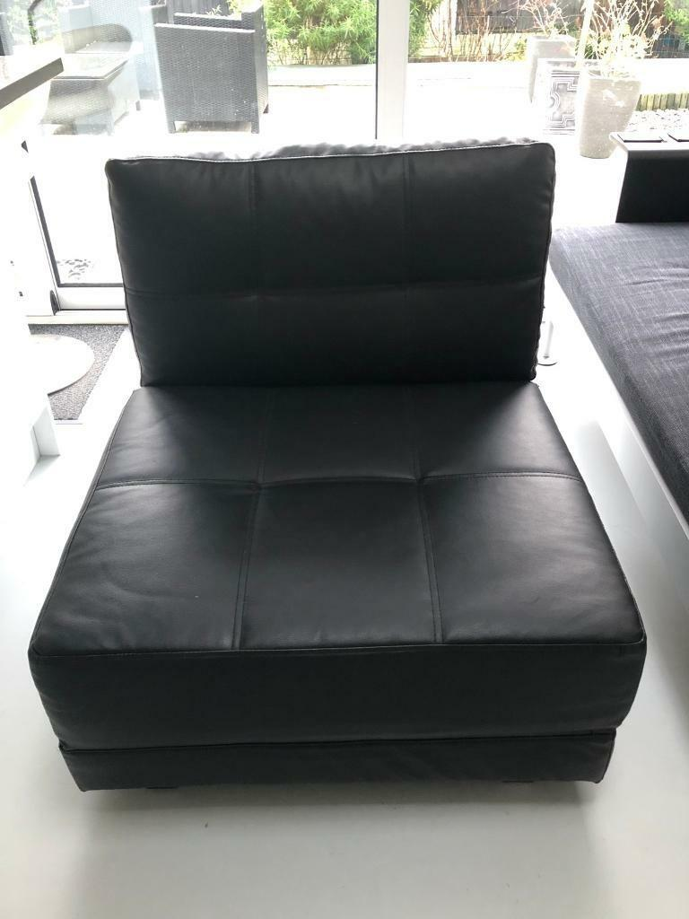 Faux Leather Reclining Chair Bed Black Armchair Bed Chairbed Fold Out Armchair In Norwood London Gumtree
