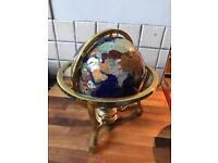 Unique Art Gemstone Globe