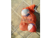 4 quality Basketballs with carry net