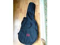 Black soft padded guitar case for sale