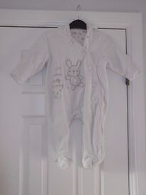 white rabbit snow suit 6-9m collect or deliver Stonehaven only, no postage