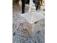 Large Japanese Pagoda Concrete Garden Statue