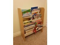 Children's bookcase + books