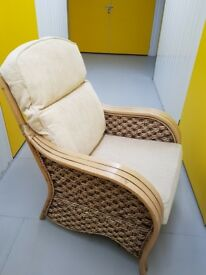 Rustic wicker armchair