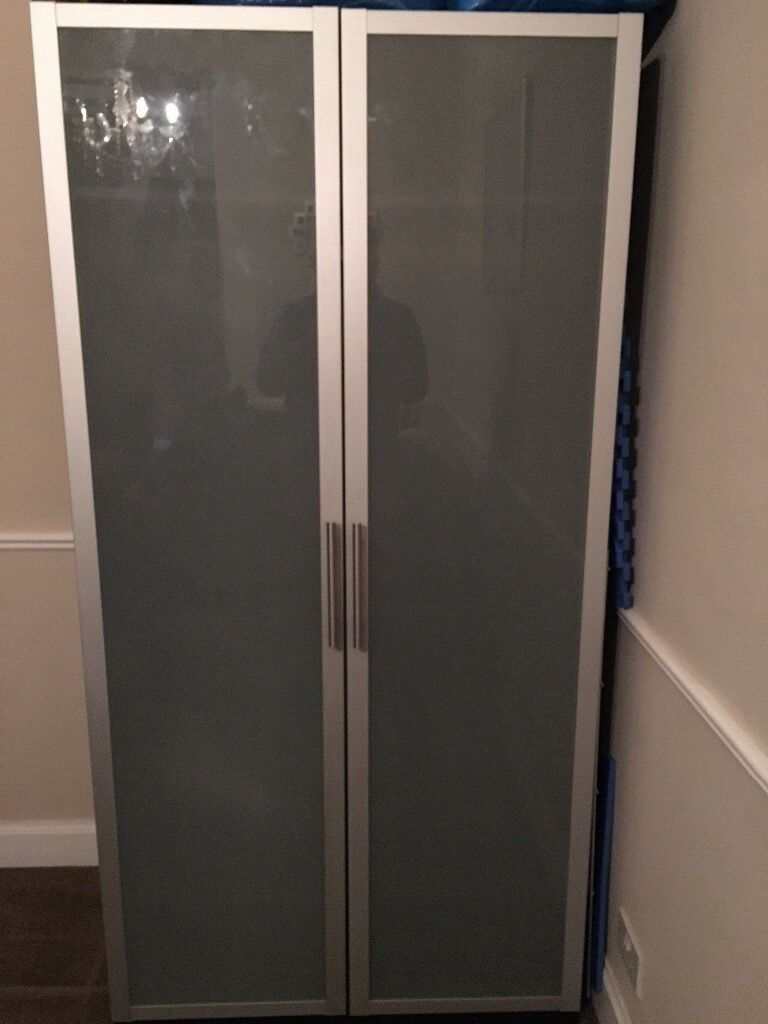 Ikea Pax Wardrobe With Frosted Glass Doors