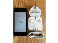 **iPhone 5S Space Grey, Excellent condition, New Charger + Earphones. Sim locked to Vodafone