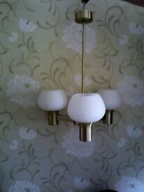 Brushed Brass Light Fitting