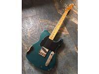 Fender Esquire Style Custom Build Sherwood Green over Black relic