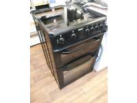 60CM BEKO BLACK TWIN CAVITY CERAMIC COOKER COMES WITH GUARANTEE