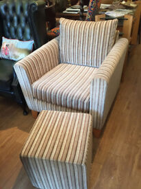 Cubed Chair and footstool - free local delivery