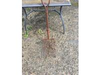 Old farm garden fork