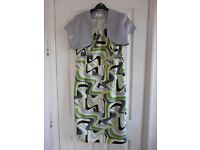 Green and silver Party, Evening Dress and Bolero size 12- 14