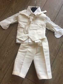 Boys christening outfit and shoes 6-12 months