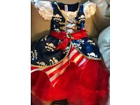 Pirate girl costume with skull and bones