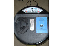 Vibrapower disc with resistance bands & remote control and instructions. REDUCED