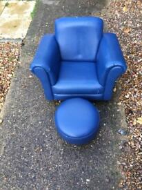 Children's armchair and footstool
