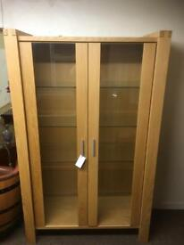 Solid oak display cabinet * free furniture delivery*