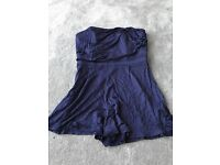 Navy luxury silky play suite from top shop size 10