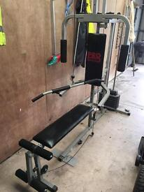 Pro weights fitness bench