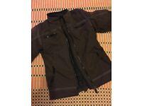 Unisex motor cycle jacket brown