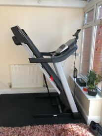 Folding power treadmill